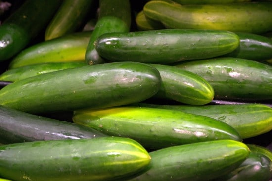 Nutrition Information on Cucumbers