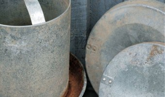 Using Chicken Feeders as Planters for Container Gardening
